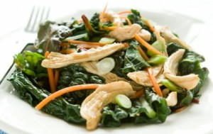 Ginger Chicken with Winter Greens